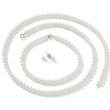 14K Freshwater Cultured Pearl 3 Piece Set