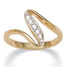 Cubic Zirconia Free - Form Ring