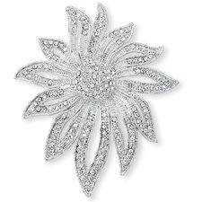 <strong>Palm Beach Jewelry</strong> Crystal Flower Pin