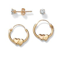 <strong>Palm Beach Jewelry</strong> 2 Pairs of Child's Earrings