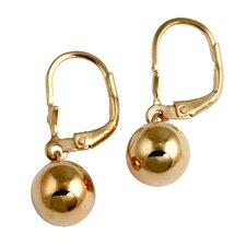 18K Sterling Silver Gold Drop Earringss