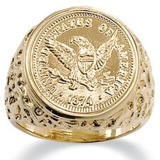 Men's Eagle Coin Ring