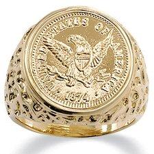 Men's Eagle Coin Ring