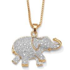 18K / Sterling Silver Elephant Pendant