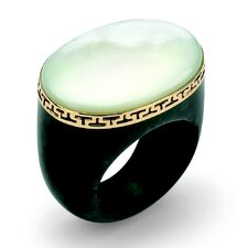 Jade and Mother of Pearl Ring
