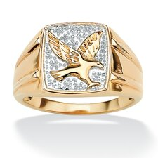 <strong>Palm Beach Jewelry</strong> Men's Diamond Accent Eagle Ring
