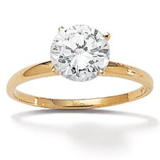 <strong>Palm Beach Jewelry</strong> 10K Cubic Zirconia Gold Ring