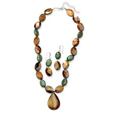 Jasper and Shell Jewelry Set