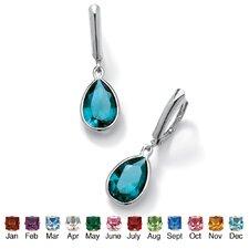 Pear-Shaped Birthstone Earrings