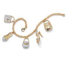 Charm Goldtone Bracelet