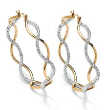 Crystal Inside-Out Hoop Earrings