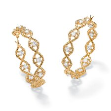 <strong>Palm Beach Jewelry</strong> Cubic Zirconia Twisted Hoop Pierced Earrings