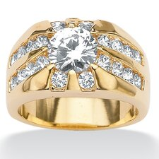 <strong>Palm Beach Jewelry</strong> Men's Round Cubic Zirconia Ring