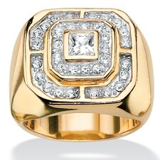 <strong>Palm Beach Jewelry</strong> Men's Crystal Ring