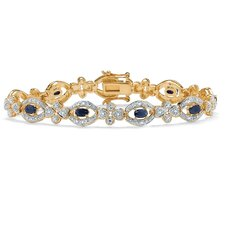 <strong>Palm Beach Jewelry</strong> Midnight Sapphire / Diamond Bracelet