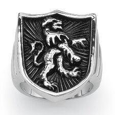 Coat of Arms Lion Shield Ring
