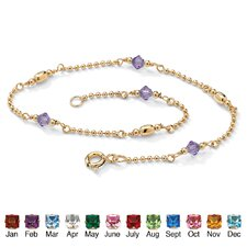 Birthstone Beaded Ankle Bracelet