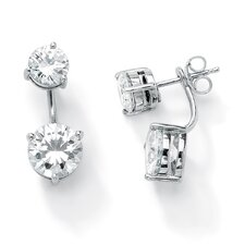 Cubic Zirconia 2-in-1 Earrings