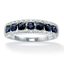Sapphire and Diamond Accent Ring
