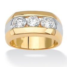 <strong>Palm Beach Jewelry</strong> Men's Triple Cubic Zirconia Ring