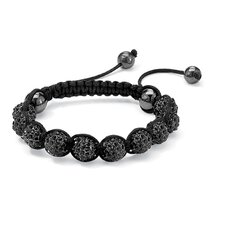 Black Crystal Ball Bracelet