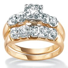 10k Gold Full Diamond Wedding Set