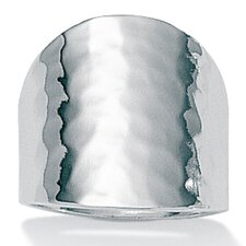 Sterling Silver Hammered-Style Ring