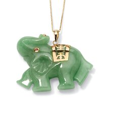 Jade Elephant Pendant