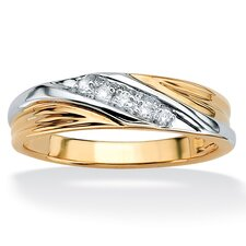 <strong>Palm Beach Jewelry</strong> 10k Gold Men's Diamond Wedding Band