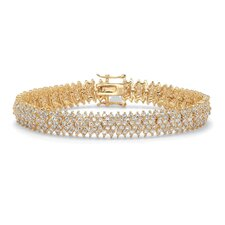Five Row Round Cubic Zirconia Tennis Bracelet