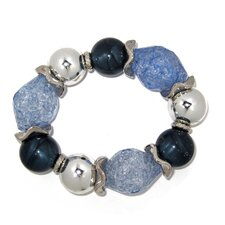 Lucite Nugget Stretch Bracelet