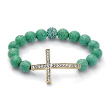 Horizontal Cross Jade Bracelet