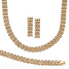 Goldtone Panther Jewelry Set