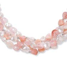Silvertone Lucite Strand Necklace