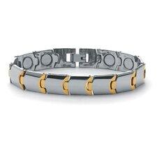 Men's Puzzle Link Magnetic Bracelet