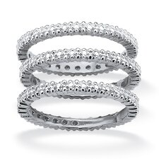 <strong>Palm Beach Jewelry</strong> Diamond Accent Eternity Band Ring (Set of 3)