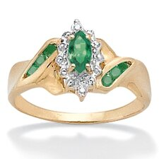 <strong>Palm Beach Jewelry</strong> Emerald and Diamond Accent Ring