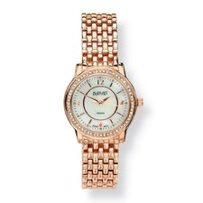<strong>Palm Beach Jewelry</strong> Diamond Accent Panther Link Watch