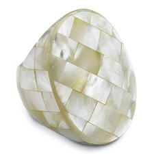 Oval Shaped Mother of Pearl Ring