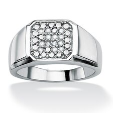 <strong>Palm Beach Jewelry</strong> Men's Round Cut Diamond Ring