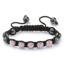 Petite Crystal Ball Cord Bracelet