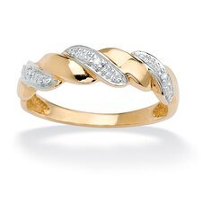 10k Gold Diamond Accent Wave Ring