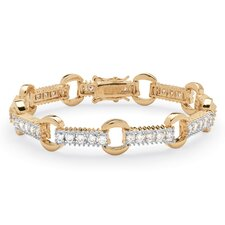 <strong>Palm Beach Jewelry</strong> Cubic Zirconia Link Bracelet