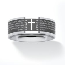 <strong>Palm Beach Jewelry</strong> Stainless Steel Lord's Prayer Ring