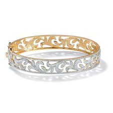 Diamond Accent Vine Bangle Bracelet