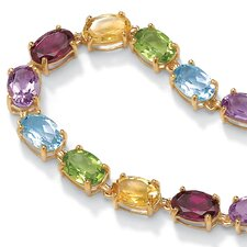 Multi-Gem Birthstone Bangle Bracelet