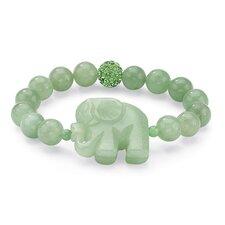 Agate Elephant Beaded Bracelet