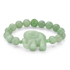 Jade Elephant Beaded Bracelet