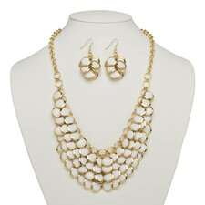 Bib Necklace and Earrings Set