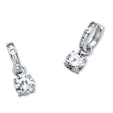 Cubic Zirconia Huggie Hoop Earrings